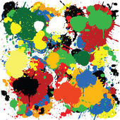 Colorful paint splash design — Stock Photo