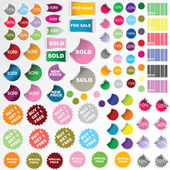 Set of sale stickers — Stock Photo