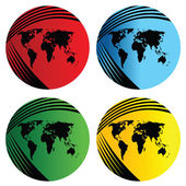 World map web buttons — Stock Photo