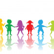 Group of colored children — Stock Photo