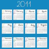 2011 blue calendar — Stock Photo