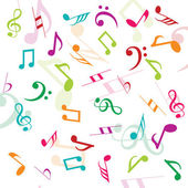 Background with musical notes — Stock Photo
