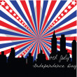 Stock Photo: 4th July banner