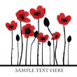 Stock Photo: Red poppies background