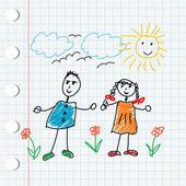 Cartoon doodle children — Stock Photo