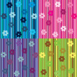 Set of striped background with flowers — Stock Photo #3415568