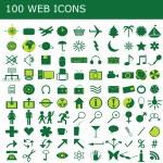 Set of 100 green web icons — Stock Photo #3434570