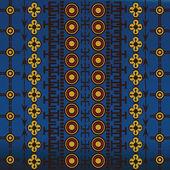 Blu motivi africani — Foto Stock