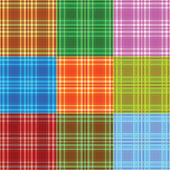 Set of fabric colored textures — Stock Photo