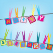 Happy birthday card — Stock Photo
