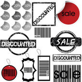 Set of stickers, labels, stamps and tags for shopping — Stock Photo