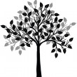 Stock Photo: Black tree