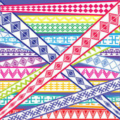 Abstract illustration with ethnic colored textures — Stock Photo