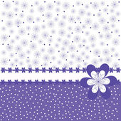 Card with purple flowers — Stock Photo