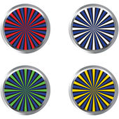 Abstract buttons with twirls — Stock Photo