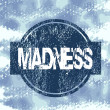 Blue stamp with madness — Foto de Stock