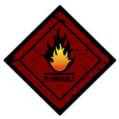 Red fire advertisment — Stock Photo
