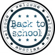 Back to school stamp — Stock Photo
