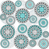 Background with turqoise circles — Stockfoto