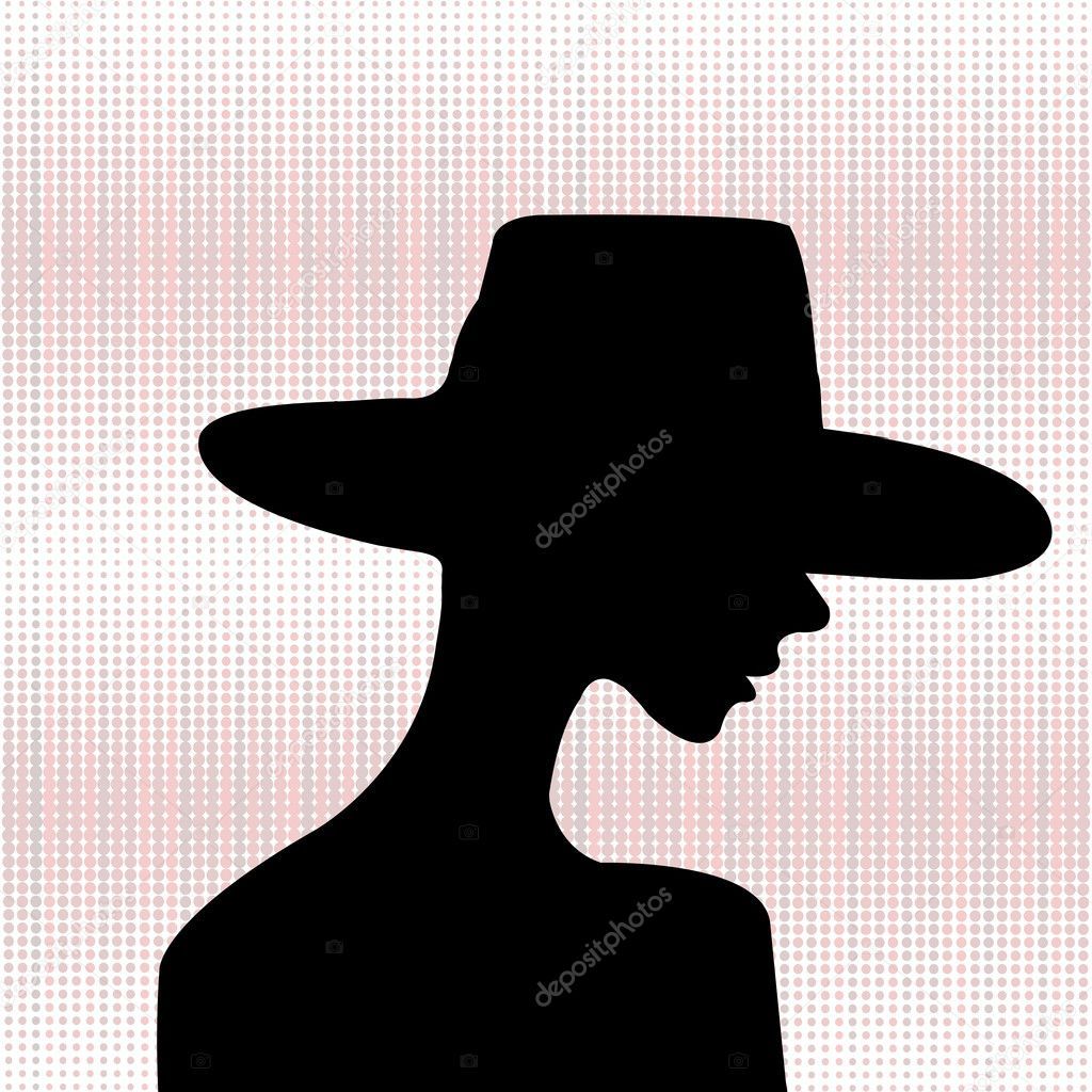 Elegant woman silhouette  Stock Photo #3554817
