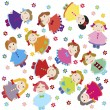 Cute baby background with dolls — Stock Photo #3575712