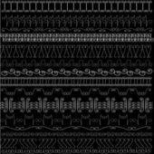 Various simple borders, white design doodle ornaments — Stock Photo