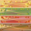 Colorful autumn celebration banners — Lizenzfreies Foto