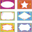 Foto Stock: Cute labels for children use