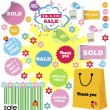 Set of summer sale with shopping stickers — Stock Photo