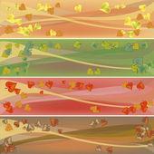 Colorful autumn celebration banners — Stock Photo