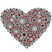 Abstract heart made of grey elements — Stock Photo