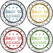 Set of Back to school stamps — Stock Photo #3654525