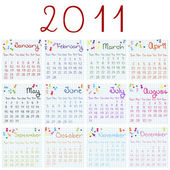 2011 calendar on math pages — 图库照片