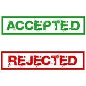 Rejected and accepted stamps — Stock Photo