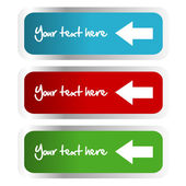 Labels with arrows — Stock Photo