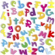 Alphabet background, small and capital letters — Stock Photo