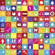 Set of 100 web icons in bright colors — Stock Photo
