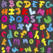 Small and capital letters of alphabet — Stock Photo