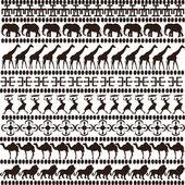 Brown ethnic motifs — Stock Photo