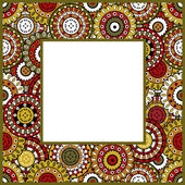 Frame with oriental ornaments — Stock Photo