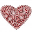Red heart made by oriental motifs — Stock Photo