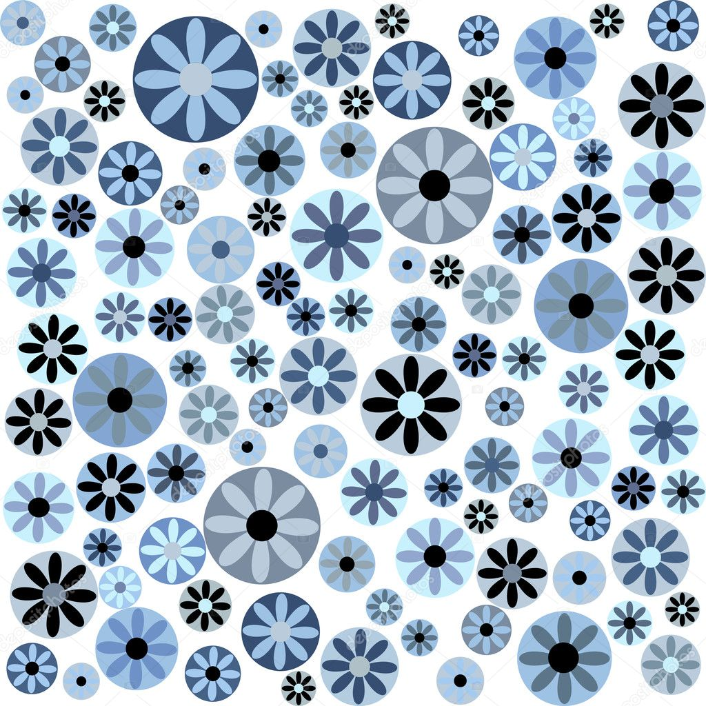 Blue Flower With White Background