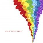 Floral rainbow — Stock Photo