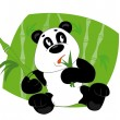 Panda eats leaves — Stockvektor