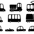 Silhouettes cars — Stock Vector