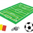 Stock Vector: Soccer field in isometries