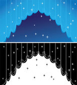 Blue curtain — Stock Vector