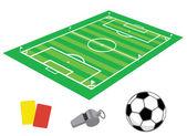 Soccer field in isometries — Stock Vector