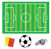 Soccer green field — Stock Vector