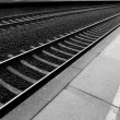 Railway lines at a train station disappe — Stock Photo #2838091